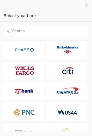 Επιλογή μεθόδου πληρωμής με τράπεζα