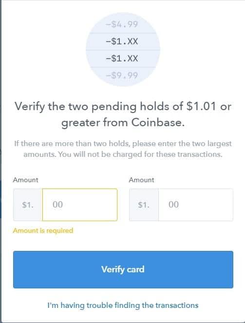 Οδηγός αγοράς κρύπτονομισμάτων στο CoinBase: Επαληθεύστε την χρεωστική κάρτα σας με το Coinbase
