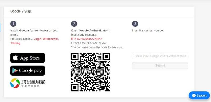 Kucoin: Οδηγός αγοράς: 2-Factor Authentication
