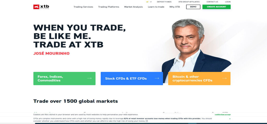 XTB cryptocurrency broker review